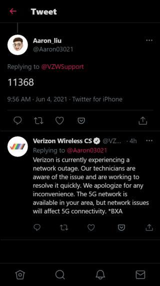 Verizon-panne