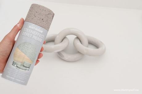 DIY : Fausse chaine en pierre