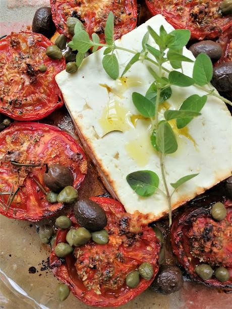 Tomates à la provençale & feta rôtie