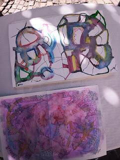 Quelques vues de mes œuvres en expo et des œuvres réalisées lors de la démonstration en public! 20-08-2021
