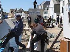 habitants l'île Sein, éco-citoyens pour durable