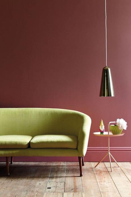 rose fonce et vert anis font bon ménage dans le salon nuance de vert