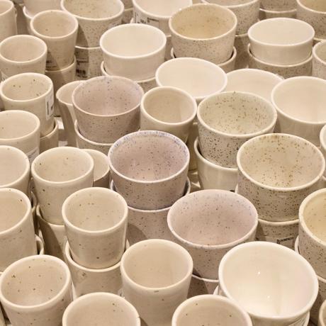 tasse café mug Bloomingville beige écru artisanal moucheté