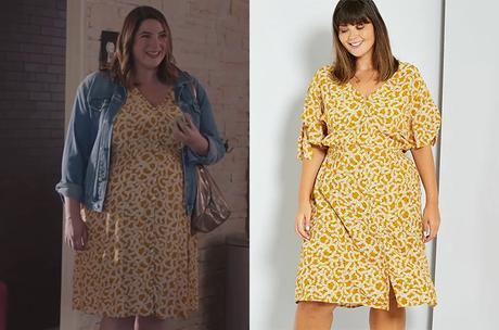 DEMAIN NOUS APPARTIENT : la robe jaune d'Audrey dans l'épisode 1004