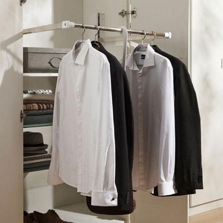 penderie escamotable réussir aménagement placard dressing petite chambre