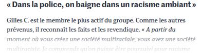 Le racisme dans la police française n'est pas systémique mais. #rouen #nancy