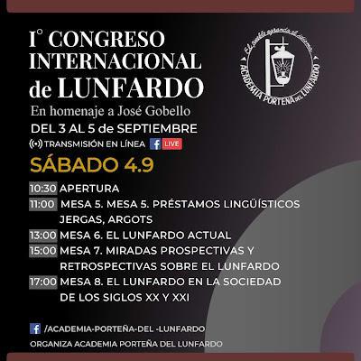 Premier congrès international de Lunfardo en ligne [Jactance & Pinta]