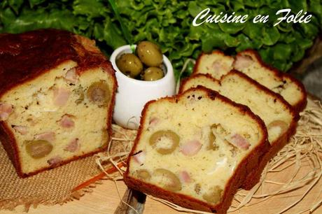 Cake olive, jambon et chèvre