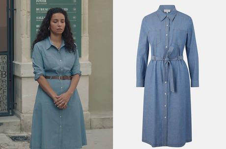 DEMAIN NOUS APPARTIENT : la robe en denim d'Irène dans l'épisode 1008