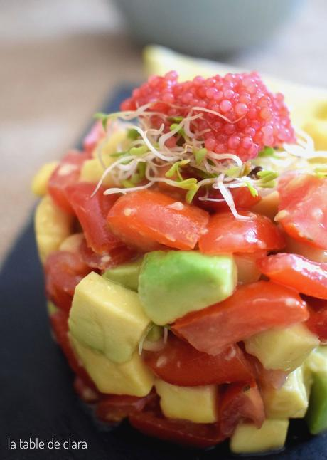 Tartare d'avocat et de tomates cerises