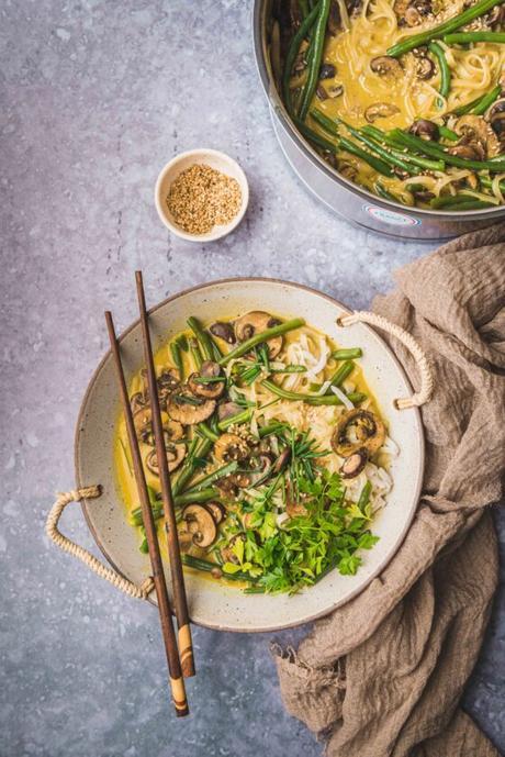 Ramen végétarien aux champignons