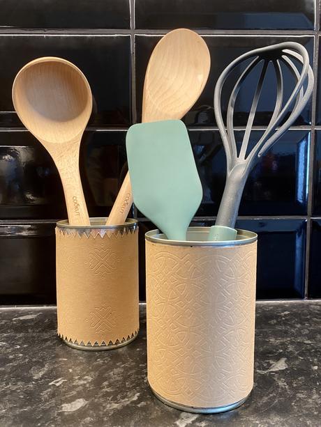 transformer boîtes de conserve pot cuisine façon cuir