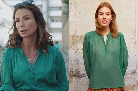 DEMAIN NOUS APPARTIENT : la blouse verte de Raphaëlle dans l'épisode 1010