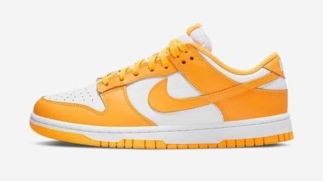 chaussure Nike Dunk orange et blanche pour homme