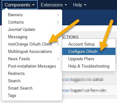 Configurez le client OAuth.