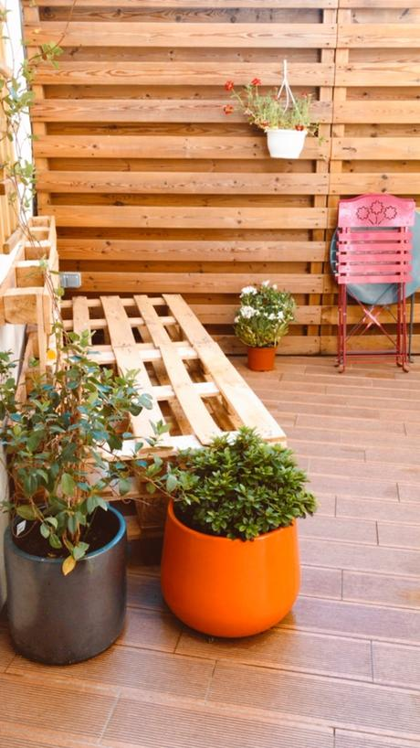 Aménager une terrasse -recycler