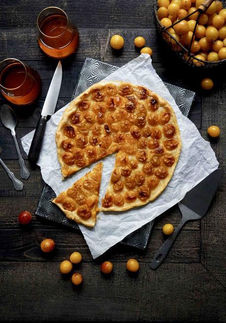 tarte, mirabelles, pate feuilletée, dessert facile