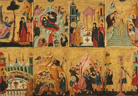Huit scènes de la vie du christ
