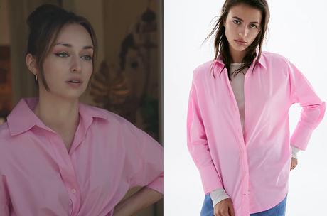 DEMAIN NOUS APPARTIENT : la chemise rose de Sofia dans l'épisode 1012