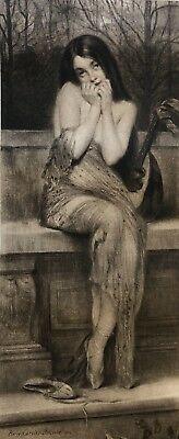 Pierre Carrier-Belleuse 1902 La-cigale eau-forte