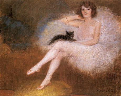 Carrier-Belleuse Pierre Danseuse au chat noir