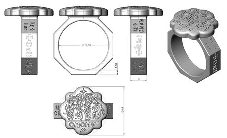 modélisation numérique du projet de bague byzantine ancienne