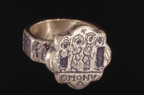 bague byzantine ancienne en argent