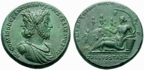 Medaillon de Commode en Janus 177 - 193