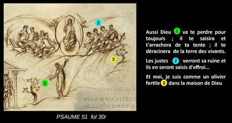 Utrecht Psalter PSAUME 51 fol 30r schema