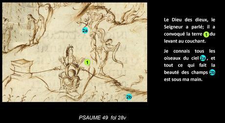Utrecht Psalter PSAUME 49 fol 28v schema