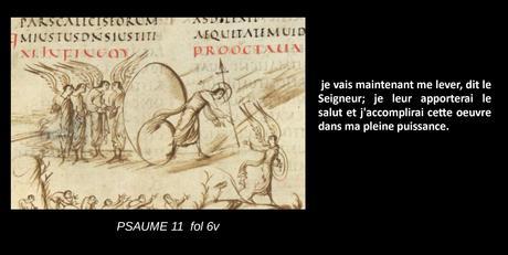 Utrecht Psalter PSAUME 11 fol 6v schema