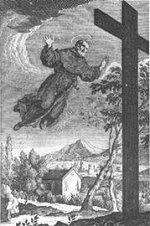 gravure du XVIIIe siècle représentant Saint Joseph de Cupertino