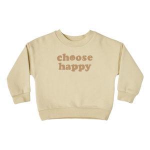 Rylee + Cru Sweat Crew Choose Happy Beige
