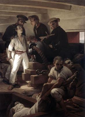 Ma liste de courses 1 - Horace VERNET, étude pour Le choléra morbus à bord de la Melpomène