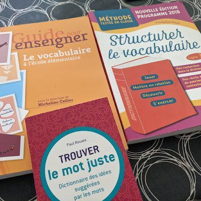Des ressources pour le vocabulaire