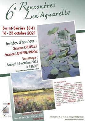 6ème Rencontres Lun'Aquarelle à Saint-Sériès