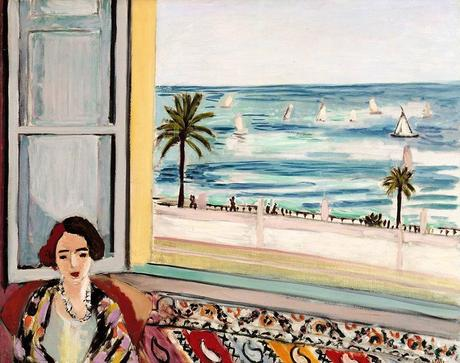 Hneri Matisse,  Femme assise dos à une fenêtre ouverte  1921.