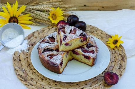 Gâteau à la brousse et aux prunes