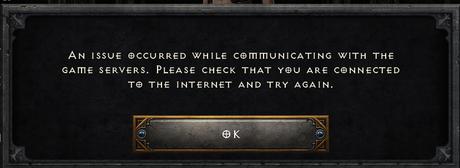 """Diablo 2: Le problème du """"problème survenu lors de la communication avec les serveurs de jeu"""" de Resurrected est expliqué"""