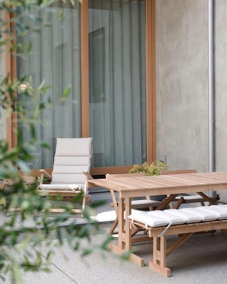 Carl Hansen & Søn mobilier extérieur bois design danois banc