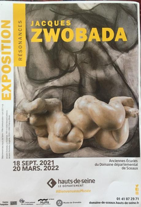 Musée de Sceaux  exposition « Résonances » Jacques ZWOBADA Anciennes écuries du Domaine de Sceaux -jusqu'au 20 Mars 2022