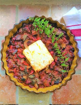Ratatouille & feta rôtie