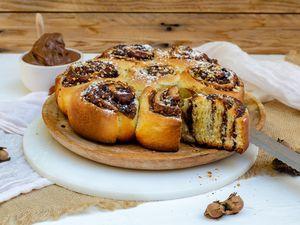 Brioche roulée chocolat noisette