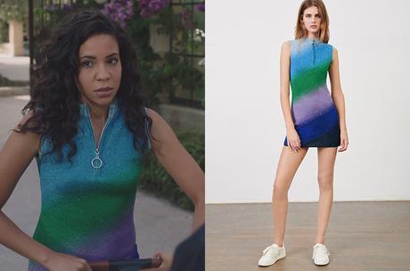 ICI TOUT COMMENCE : la robe en maille lurex de Marta dans l'épisode 244