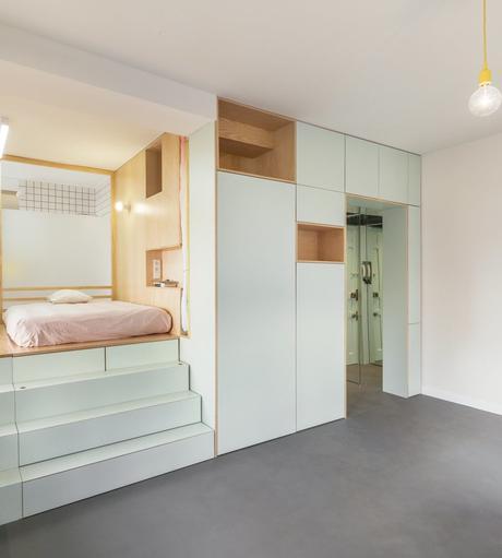 visite d un 32m2 au coeur de madrid appartement studio bien agencé déco décoration