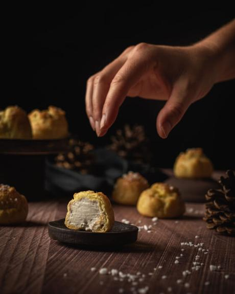 Chouquettes fourrées à la crème