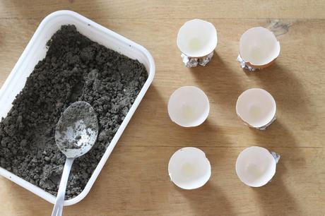 champignons en béton faire naturelle moule oeuf