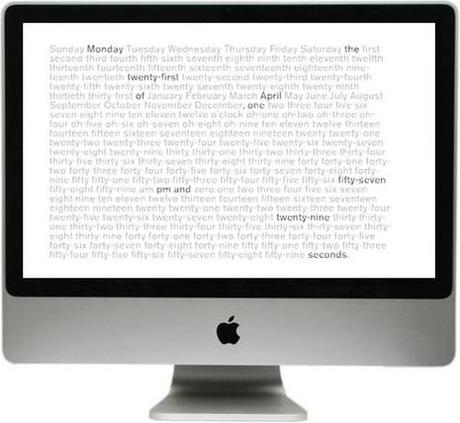 Word Clock vous donne l'heure en toutes lettres