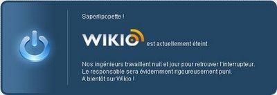 SAPERLIPOPETTE :d wikio est actuellement éteint