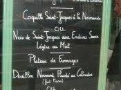 menu coquille Saint Jacques Dieppe